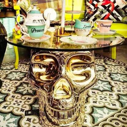 Mexico Stool and Sidetable Metal Finish photo gallery 3