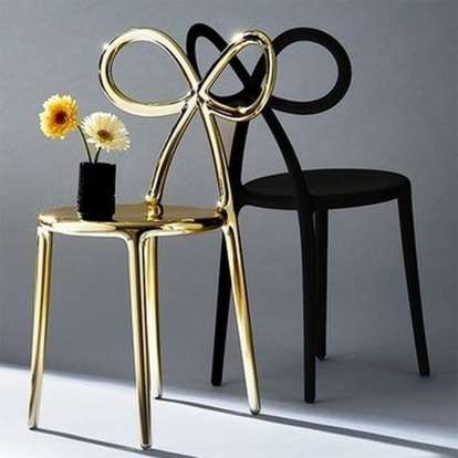 Ribbon Chair Metal Finish - Set of 2 pieces photo gallery 6