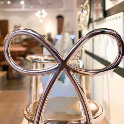 Ribbon Chair Metal Finish - Set of 2 pieces photo gallery 9