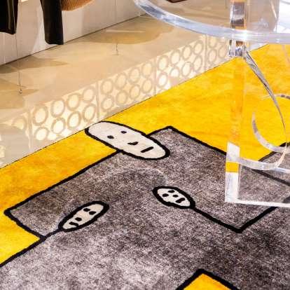 Carpet Dog Yellow Rectangular photo gallery 2