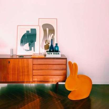 Rabbit Chair Velvet Finish photo gallery 1