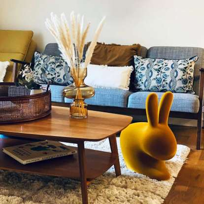 Rabbit Chair Velvet Finish photo gallery 2