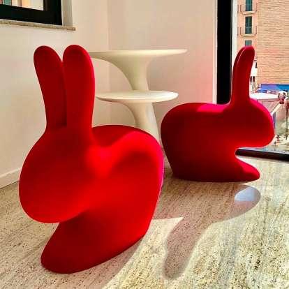 Rabbit Chair Velvet Finish photo gallery 6
