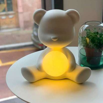 Teddy Girl Lamp with Rechargeable Led photo gallery 1