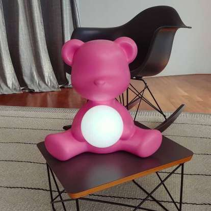 Teddy Girl Lamp with Rechargeable Led photo gallery 2