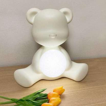 Teddy Girl Lamp with Rechargeable Led photo gallery 3