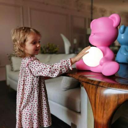 Teddy Girl Lamp with Rechargeable Led photo gallery 6
