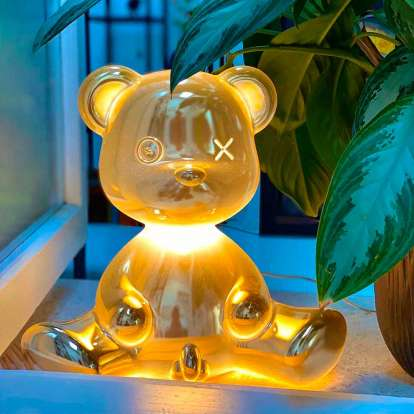 Teddy Boy Lamp Metal Finish with Cable photo gallery 1