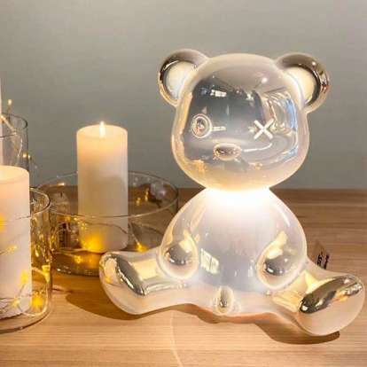 Teddy Boy Lamp Metal Finish with Cable photo gallery 2