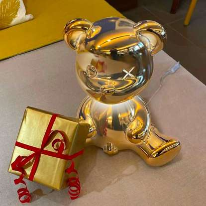 Teddy Boy Lamp Metal Finish with Cable photo gallery 4
