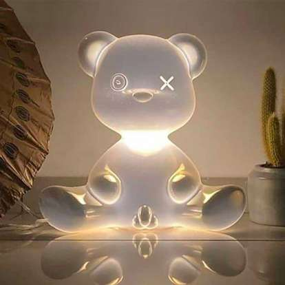 Teddy Boy Lamp Metal Finish with Cable photo gallery 5