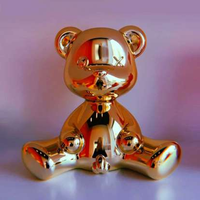 Teddy Boy Lamp Metal Finish with Cable photo gallery 6