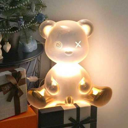 Teddy Boy Lamp Metal Finish with Cable photo gallery 7