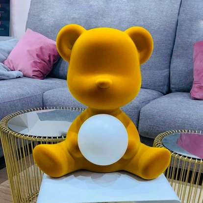 Teddy Girl Lamp Velvet Finish with Rechargeable Led photo gallery 3