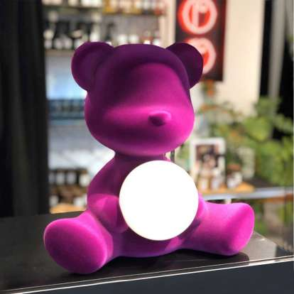 Teddy Girl Lamp Velvet Finish with Rechargeable Led photo gallery 7