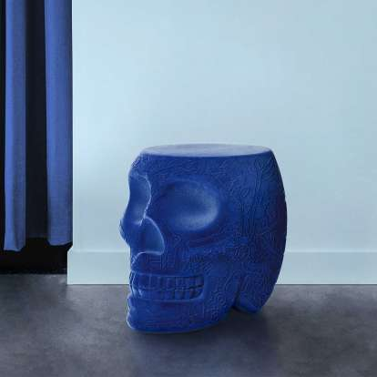 Mexico Stool and Sidetable Velvet Finish photo gallery 2