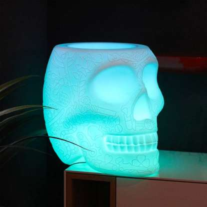 Mexico Planter and Champagne Cooler Lamp with Rechargeable Led photo gallery 1