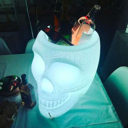 Mexico Planter and Champagne Cooler Lamp with Rechargeable Led photo gallery 4