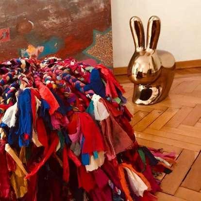 Rabbit Chair Metal Finish photo gallery 3